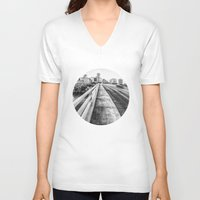 nashville V-neck T-shirts featuring Road to Nashville by GF Fine Art Photography