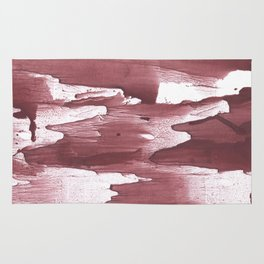Sienna vague wash drawing design Rug