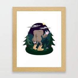 The Legendary Bagfoot Framed Art Print