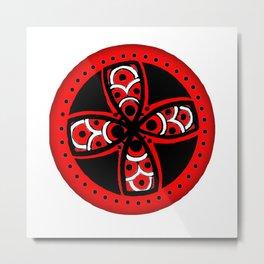 Red Tribal Metal Print