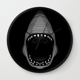 Tribal Shark lines Wall Clock