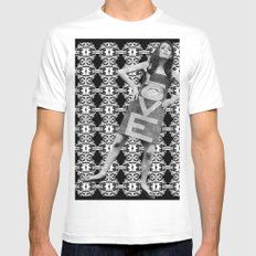 LOVE implosion #9 Mens Fitted Tee White MEDIUM