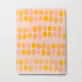 Stacked stones - orange Metal Print