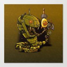 Robot Reptile Raygun Canvas Print