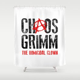 Chaos Grimm Shower Curtain