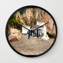 Cottage on the Beach Wall Clock