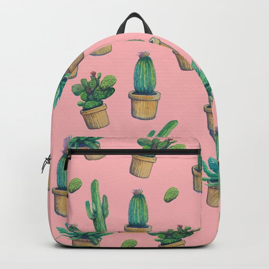 cactus pink2 Backpack