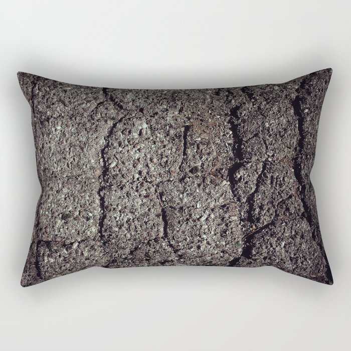 Cracked asphalt road Rectangular Pillow
