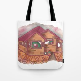 neighbours are watching  Tote Bag