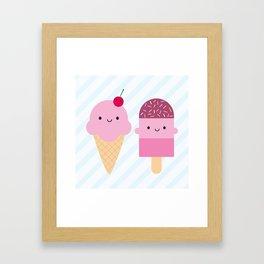 Summer Ice Cream Treats Framed Art Print