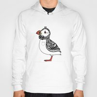 puffin Hoodies featuring Atlantic Puffin I by 。i。f。studio