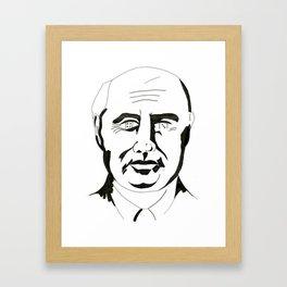 History Man Framed Art Print