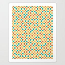 Vintage Dots Art Print