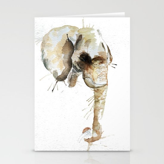 Elephant Head Stationery Cards