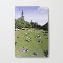 Princes Street Gardens on a sunny day 1 Metal Print