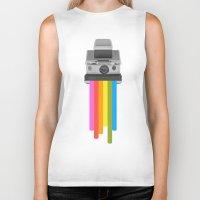 gray Biker Tanks featuring Taste the Rainbow by Zeke Tucker