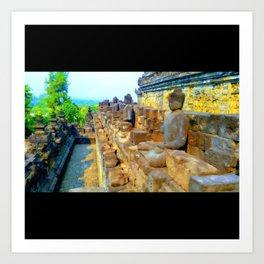 Buddhist Temple Meditation Art Print
