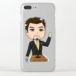 Tiny Tony Stark 01 Clear iPhone Case