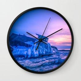Frozen boat Wall Clock