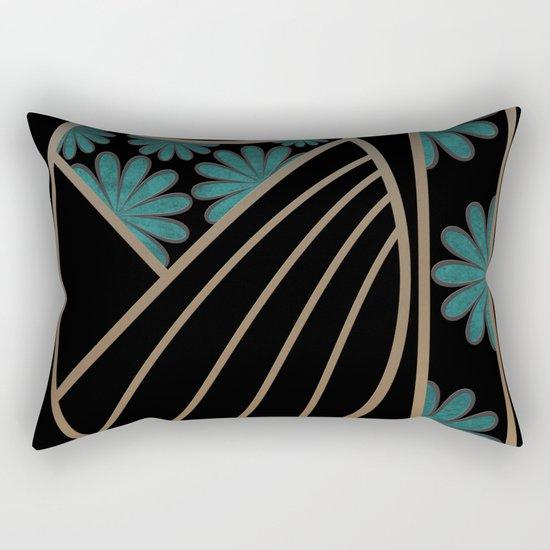 ART DECO FLOWERS (abstract) Rectangular Pillow