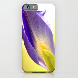Lovely Purple Iris Flower Yellow Background #decor #society6 #buyart iPhone Case