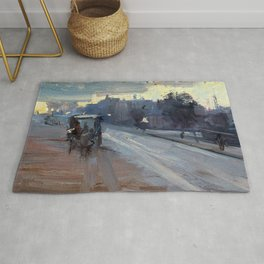 Arthur Streeton - Hoddle St., 10 P.m. - Digital Remastered Edition Rug