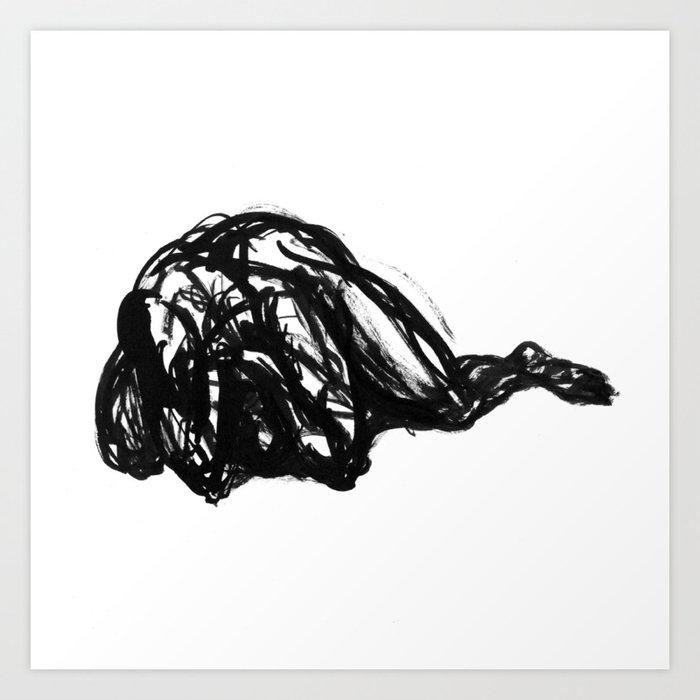 Boceto gestual 2 Art Print