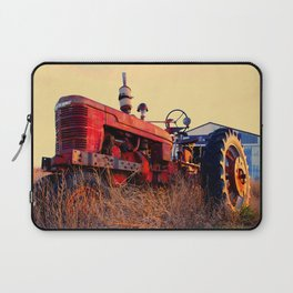 old tractor red machine vintage Laptop Sleeve