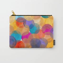 Graphic Circles Carry-All Pouch