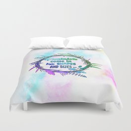 Feminists come in all shapes and sizes Duvet Cover