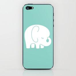 Mod Baby Elephant Teal iPhone Skin
