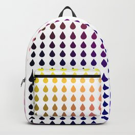 Rainbow ombre heart grid Backpack