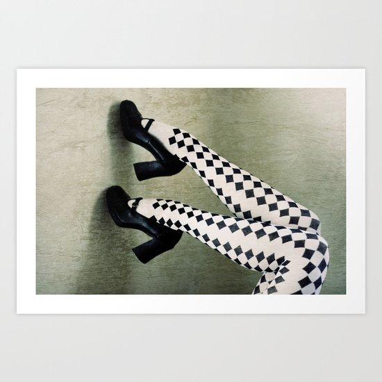 checkered Art Print