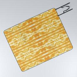 Yellow Tie Dye Twos Picnic Blanket