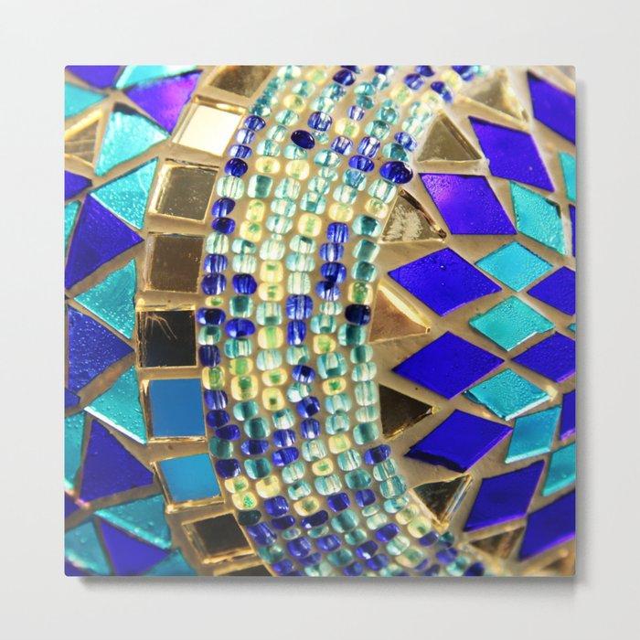 mosaic and beads [photograph] Metal Print