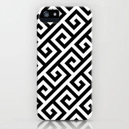 Greek Key Black iPhone Case