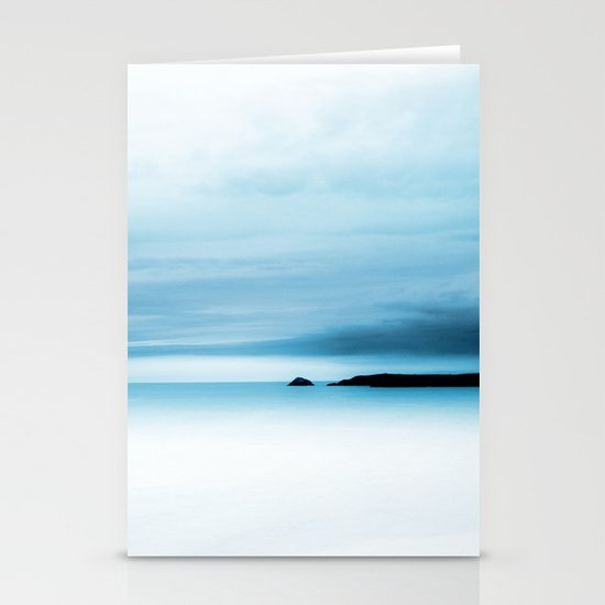 cool blue sea Stationery Cards