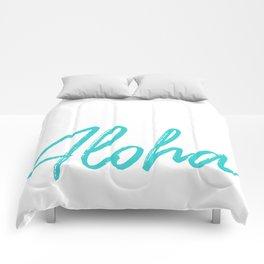 Aloha in Tropical Blue Comforters