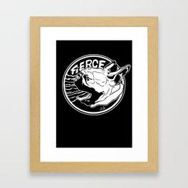 Fierce French Bulldog. Blk. Framed Art Print