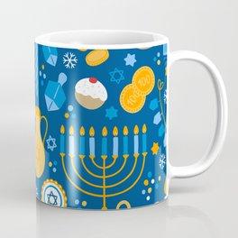 Hanukkah Happy Holidays Pattern Coffee Mug