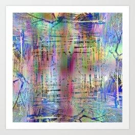 Waives immortal comb brim. Art Print