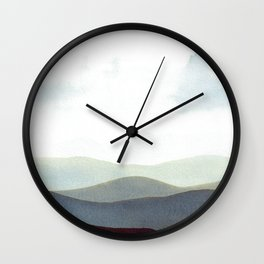 Mountains Storm Wall Clock