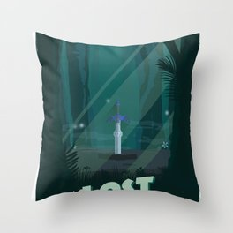 Lost Woods (Legend of Zelda) Travel Poster Throw Pillow