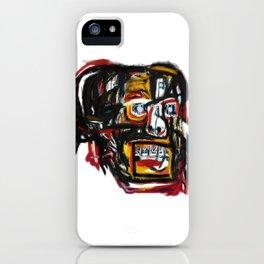 Skull after Basqiat iPhone Case