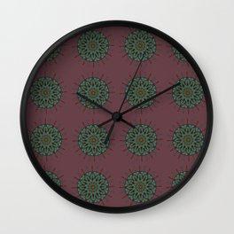 Himalayan Candy Red - Mini Mandala Pattern Wall Clock