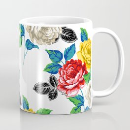 Painted Floral Coffee Mug
