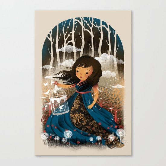 There Once Was A Girl In A Whimsical Land Canvas Print