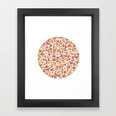 Fox Circle. Framed Art Print
