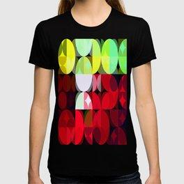 Mixed Color Poinsettias 2 Abstract Circles 3 T-shirt