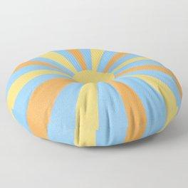 yellow and orange sunshine Floor Pillow
